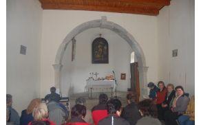 Notranjost cerkvice sv. Marije Magdalene