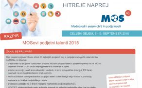 Razpis za mlade podjetnike: MOS-ovi podjetni talenti
