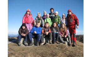 Mladi planinci na Mrzlici