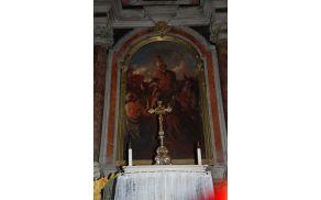 Oltarna slika v cerkvi sv. Martina v Avčah; Foto: Ernesta Drole