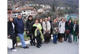 Udeleženci izmenjave dobrih praks so videli tudi del kanalske občine. Foto: Klara Golja
