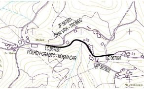 Trasa ceste Črni Vrh