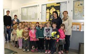 Otroci predstavili projekt Zeleni nahrbtnik. Foto: N.H.I.