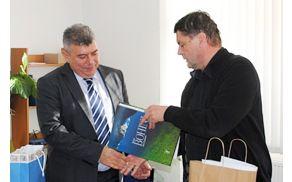 Predsednik Občine Negotin Milan Uruković in župan Franc Kramar. Foto: Senko Zlatković