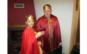 Kralj cvička Alojz Starič in cvičkova princesa Maša Cvetan