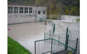 OŠ Deskle poplava. Foto: OŠ Deskle