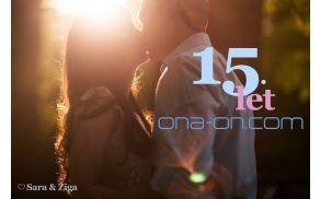 Sara in Žiga sta eden izmed 15.000 parov, ki so se v zadnjih 15 letih spoznali na ona-on.com.
