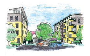 Prostorska skica oskrbovanih stanovanj v Šiški. (foto: MOL)