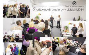 Otvoritev novih prostorov Centra za kakovost odnosov Ljubljana 2014