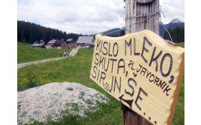 Vabilo na pokušino k sirarni na planini Zajavorniki. Foto: Petra Lotrič Ogrin