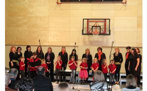 Voščilo ravnateljice Majde Rojc ter Otroškega in Ženskega pevskega zbora OŠ Vojnik