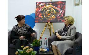 Helena Hauptman z gostjo Ksenijo Benedetti