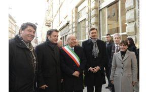 Župani Milan Turk, Matej Arčon, Ettore Romoli, predsednik republike Borut Pahor in predsednica Avtonomne dežele Furlanije Julijske Debora Serracchiani. (Foto: ARC Montenero/www.slomedia.it)