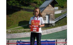 1. mesto v ŠKP - Špela Mastnak