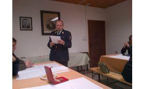 Dosedanji in novoizvoljeni poveljnik PGD Prekopa- Čeplje-Stopnik  Andrej Blatnik