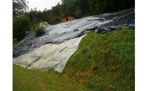 Plaz Pod Lovrencem se je sprožil septembra 2010 (foto: PGD Dragomer - Lukovica, september 2010).