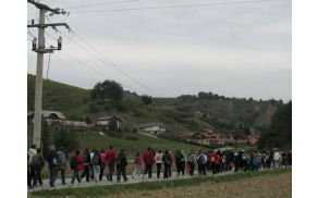 Tudi lani je bilo veliko udeležencev pohoda.