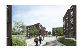 3d prikaz načrtovane stanovanjske soseske Polje III. Foto: Arhiv Bevk Perović arhitekti