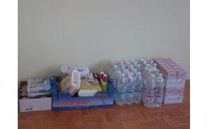 Del zbora ekip prve pomoči v avli Osnovne šole Louisa Adamiča