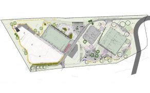 Načrtovane površine v Športni park Šempeter pri Gorici.