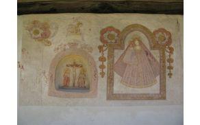 Freska na Pocarjevi domačiji.