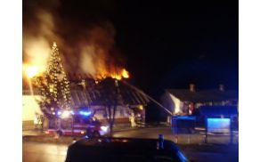 Decembrski požar na Bohinjski Beli.