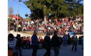 Kostanj je v Lig privabil množico obiskovalcev.  Foto: Lea Širok