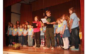 V programu slovesnosti so se zopet izkazali učenci OŠ Krmelj.