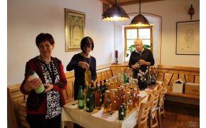 priprava vzorcev sadnih pijač