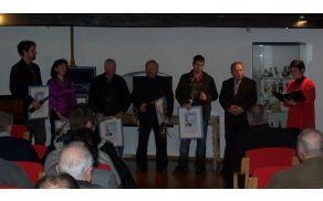 Nagrajenci Krajevne skupnosti Kanal v letu 2013. Foto: Aleksander Grm