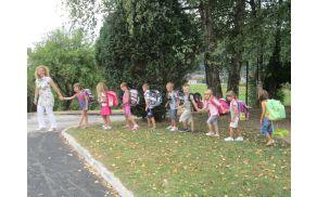 Prvošolci in prvi šolski dan