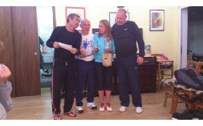 prvouvrščena na turnirju mešanih dvojic z organizatorji: Bobek, Franci, Sabina in Sandi