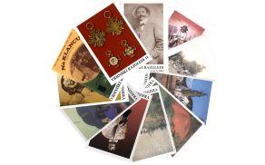 Paleta platnic zbornika Vrhniški razgledi od številke 1 do 11