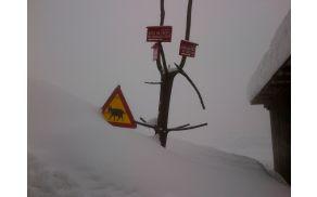 Sneg na Čreti v sredo, 27. februarja 2013.