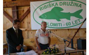 Ribičem je za jubilej čestital tudi horjulski župan Janko Prebil.