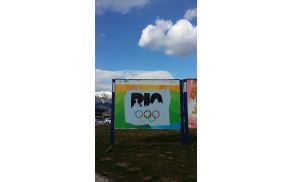 Plakat Miha Vidakoviča za Rio 2016 (EGSŠ Radovljica)