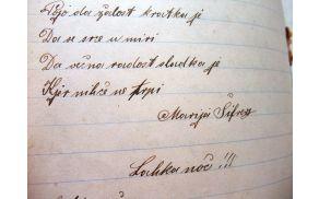 Rokopis pesmi Marije Šifrer.