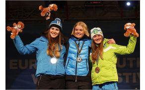 Saša se je na Olimpijskem festivalu evropske mladine veselila 3. mesta.
