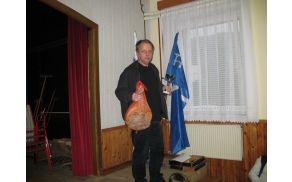 Evald Ule, zmagovalec Božično-novoletnega šahovskega turnirja v Borovnici