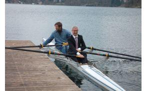 Minister Pikalo in olimpijec Luka Špik.