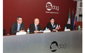 Zbrane so nagovorili Roberto Sartori, podžupan Občine Gorica, Giorgio Milocco, predsednik družbe SDAG, in Milan Turk, župan Občine Šempeter-Vrtojba.
