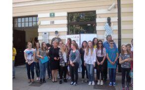 Učenci 9. razreda. Foto: arhiv OŠ Kobarid