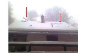 V času slikanja so bile sončne celice pod snegom, a ne za dolgo