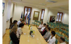 Županja Darja Hauptman je sprejela zlata maturanta občine Kobarid. Foto: Nataša Hvala Ivančič