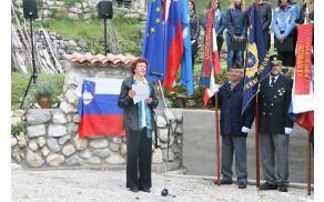 Slavnostna govornica je bila domačinka Ana Marija Filipič.