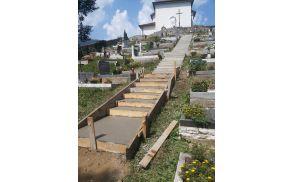 Stopnice na pokopališču pri sv. Lovrencu. Foto: Marko Miklavič