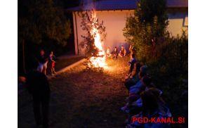 Zvečer ob ognju. Arhiv: PGD Kanal