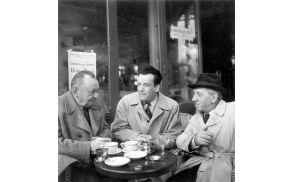 Izidor Cankar, Miha Maleš in Veno Pilon leta 1951. Foto: arhiv Mladinske knjige