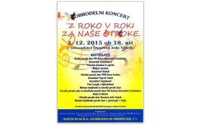 Podajmo si roke na dobrodelnem koncertu »Z roko v roki za naše otroke«
