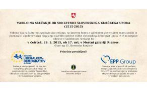 Vabilo na kulturno-zgodovinsko srečanje ob 500-letnici slovenskega kmečkega upora
